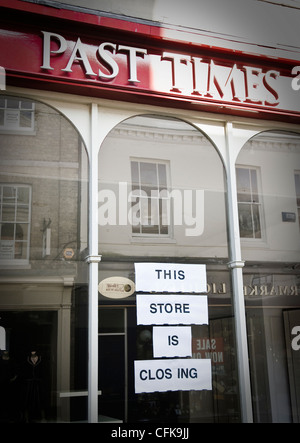 Past Times - this store is closing. Buttermarket, Ipswich, Suffolk, UK. - Stock Photo