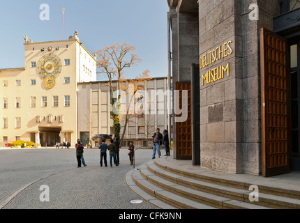 Entrance of the 'Deutsches Museum', Munich, Bavaria, Germany, Europe - Stock Photo