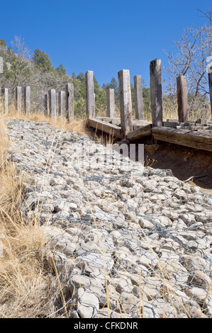 Kidrap project to help control erosion at Bonito Lake, Lincoln National Forest, Ruidoso, New Mexico. - Stock Photo