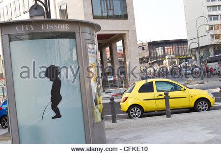 Public Toilet in Berlin - Stock Photo