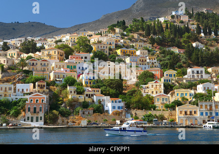 Symi, Greek Island of Symi, Aegean Dodecanese Island Group, Greece - Stock Photo