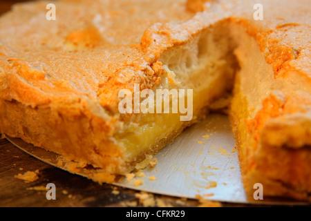 Home made Lemon Meringue Pie - Stock Photo