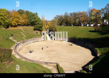 Roman amphitheater, UNESCO World Heritage Site, Trier, Rhineland-Palatinate, Germany, Europe - Stock Photo