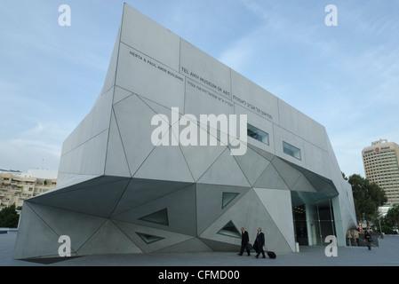 New wing of Tel Aviv Museum of Art, Tel Aviv, Israel, Middle East - Stock Photo
