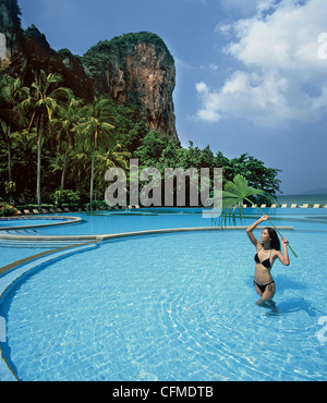 Pool, Rayavadee Resort, Krabi, Thailand, Southeast Asia, Asia - Stock Photo