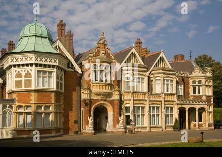 The Mansion, Bletchley Park, the World War II code-breaking centre, Buckinghamshire, England, United Kingdom, Europe - Stock Photo