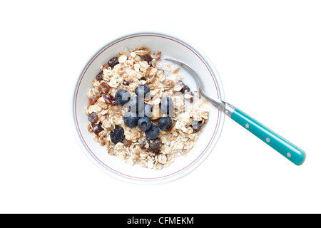 Blueberry muesli - Stock Photo