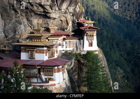 Taktshang Goemba (Tiger's Nest Monastery), Paro Valley, Bhutan, Asia - Stock Photo