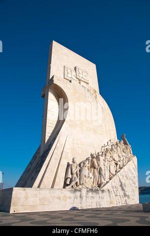 Padrao dos Descobrimentos (1960) monument to discoveries Belem district Lisbon Portugal Europe - Stock Photo