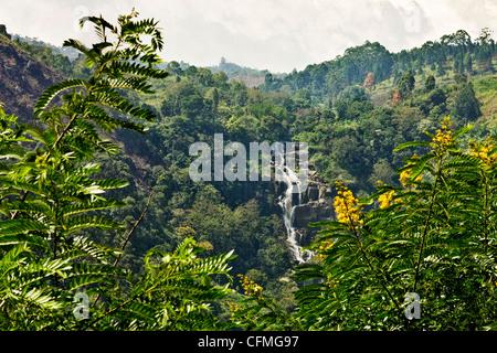Little Rawana (Ravana) Falls, Ella, Sri Lanka, Asia - Stock Photo