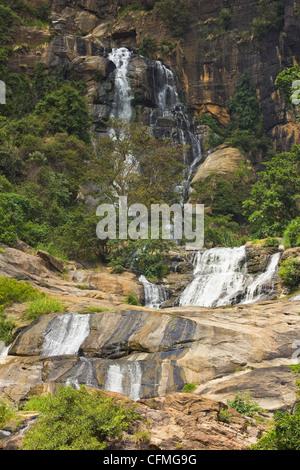 Rawana (Ravana) Falls, Ella, Central Highlands, Sri Lanka, Asia - Stock Photo