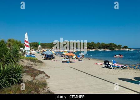 S'Argamassa Beach Ibiza Balearics Spain - Stock Photo