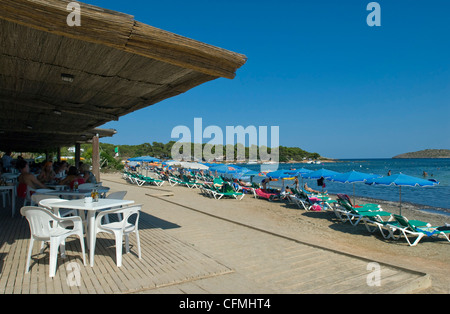 S'Argamassa Beach Restaurant Ibiza Balearics Spain - Stock Photo