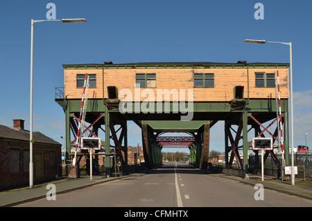 Bascule bridge at Duke Street, Birkenhead - Stock Photo