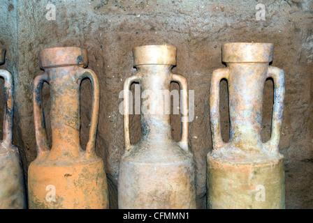amphora in London Museum - Stock Photo