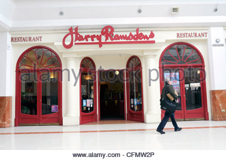 Harry Ramsdens fish & chip restaurant at Merry Hill shopping centre, West Midlands, UK. - Stock Photo