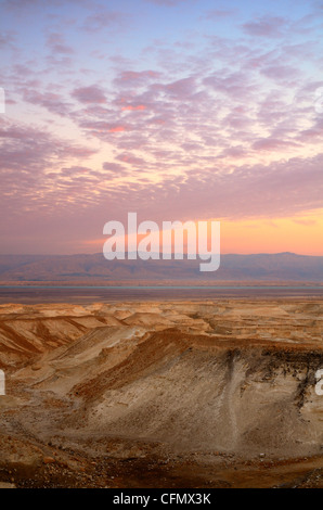 Landscape of the Judaean Desert near the Dead Sea in Israel - Stock Photo