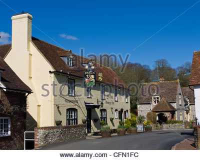 The Old George Inn East Meon Hampshire England UK - Stock Photo