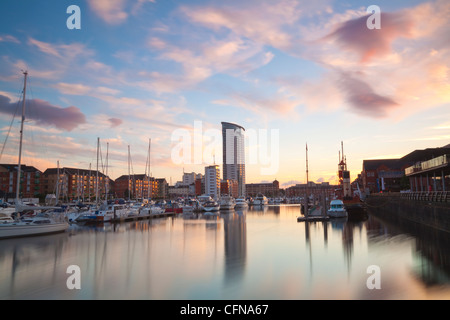 Swansea Marina, West Glamorgan, South Wales, Wales, United Kingdom, Europe - Stock Photo