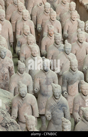 Terracotta Warriors Army, Pit Number 1, Xian, Shaanxi Province, China, Asia - Stock Photo