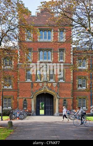 Jesus College, Cambridge, England, - Stock Photo