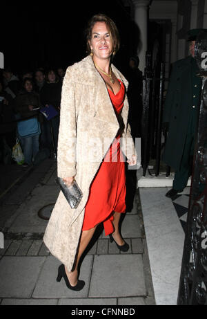 Tracy Emin arrives at Mark's Club in Mayfair to attend Finch And Partners' Pre-BAFTA Party London, England - 12.02.11 - Stock Photo