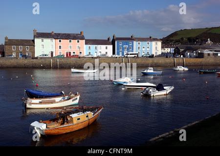 Aberaeron harbour Ceredigion Wales UK - Stock Photo