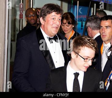 Stephen Fry Orange British Academy Film Awards (BAFTAs) held at the Royal Opera House - Departures London, England - Stock Photo