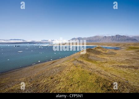 Jokulsarlon glacial lagoon, Iceland - Stock Photo