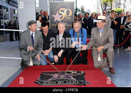 Leron Gubler, Seth MacFarlane, Bill Maher and Larry King Bill Maher receives the 2,417th star on the Hollywood Walk - Stock Photo
