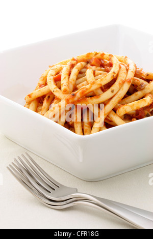 marinara sauce pasta made with delicious tomatoes and other fresh and delicious ingredients - Stock Photo