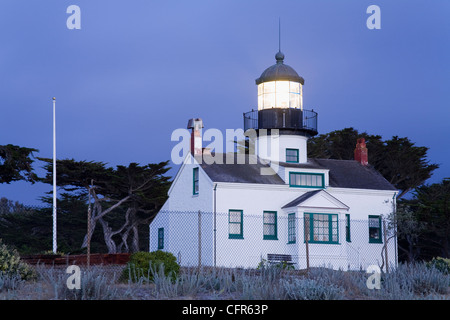 Point Pinos Lighthouse, Pacific Grove, Monterey County, California, United States of America, North America - Stock Photo