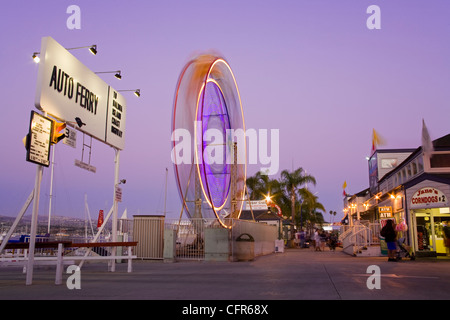 Ferris Wheel in Balboa Village, Newport Beach, Orange County, California, United States of America, North America - Stock Photo