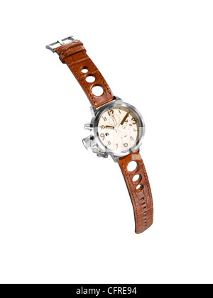 A cut out of a modern man's watch - Stock Photo