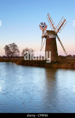 A view of Turf Fen Mill beside the River Ant at How Hill, Norfolk, England, United Kingdom, Europe - Stock Photo