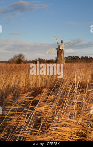 A view of Turf Fen Mill  at How Hill, Norfolk, England, United Kingdom, Europe - Stock Photo