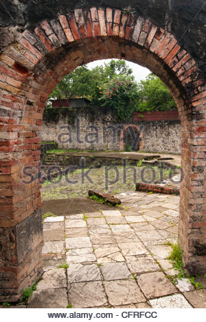 Ruins of the Theatre, West Indies, Caribbean, Central America - Stock Photo
