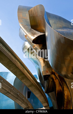 The Experience Music Project And Science Fiction Museum.Seattle  Center.Seattle.Washington.
