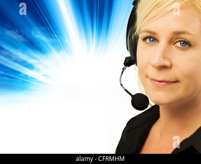 customer helpline - Stock Photo