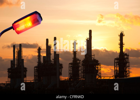 A petrochemical plant at Seal Sands on Teeside, UK. - Stock Photo