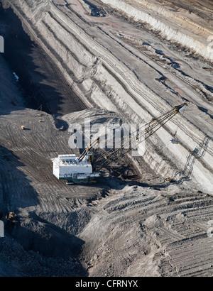 Coal Mine in Wyoming's Powder River Basin - Stock Photo