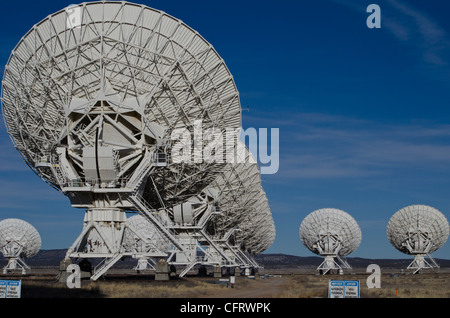 VLA, Very Large Array, New Mexico,  part of National Radio Astronomy Observatory , (NRAO) - Stock Photo