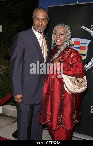 Dec 11, 2006; Beverly Hills, CA, USA; JAMES PICKENS JR. and wife arrive at the 'Dreamgirls' Los Angeles Premiere - Stock Photo