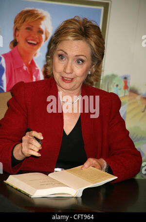 Dec 18, 2006; New York, NY, USA; New York Senator HILLARY RODHAM CLINTON promotes the 10th Anniversary edition 'It Takes A Village and Other Lessons Children Teach Us' held at Barnes and Noble Lincoln Square. Mandatory Credit: Photo by Nancy Kaszerman/ZUMA Press. (©) Copyright 2006 by Nancy Kaszerma Stock Photo
