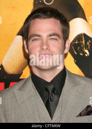 Jan 18, 2007; Hollywood, California, USA;  Actor CHRIS PINE   at the 'Smokin Aces' World Premeire held at Grauman's - Stock Photo