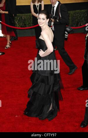 Jan. 28, 2007 - Hollywood, California, U.S. - LOS ANGELES, CA JANUARY 28, 2007  .Actress Anne Hathaway during the - Stock Photo