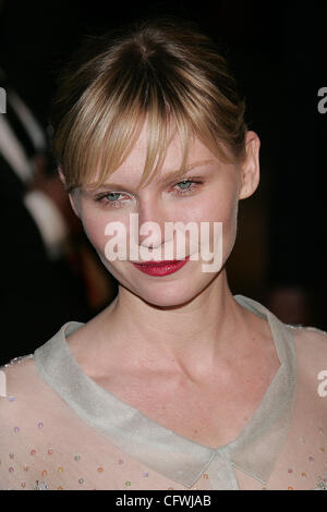 © 2007 Jerome Ware/Zuma Press  Actress KIRSTEN DUNST during arrivals at the 2007 Vanity Fair Oscar Party held at - Stock Photo