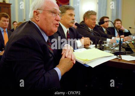 Mar 27, 2007 - Washington, DC, USA - ROBERT DUPUY, president and COO of Major League Baseball testifies before the - Stock Photo
