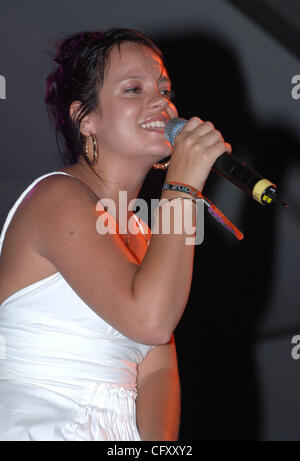 Apr. 29, 2007 - Indio, California, USA -Singer LILY ALLEN performs live as part of the 2007 Coachella Music and - Stock Photo