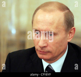 Russian President Vladimir Putin met in Moscow. - Stock Photo